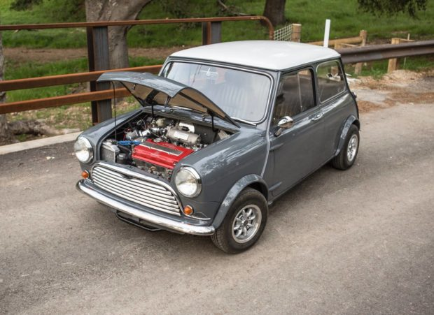 Mini with a Honda B18C inline-four