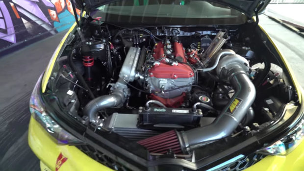 RWD Corolla iM with a 2.7 L 2AR inline-four