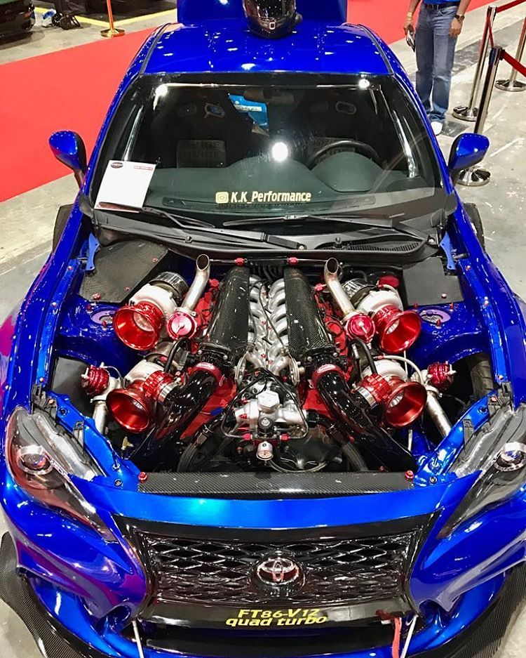 Toyota 86 with a Quad-Turbo V12 – Engine Swap Depot