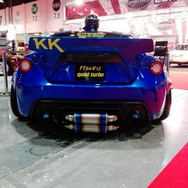Toyota 86 with a Quad-turbo 1GZ-FE V12