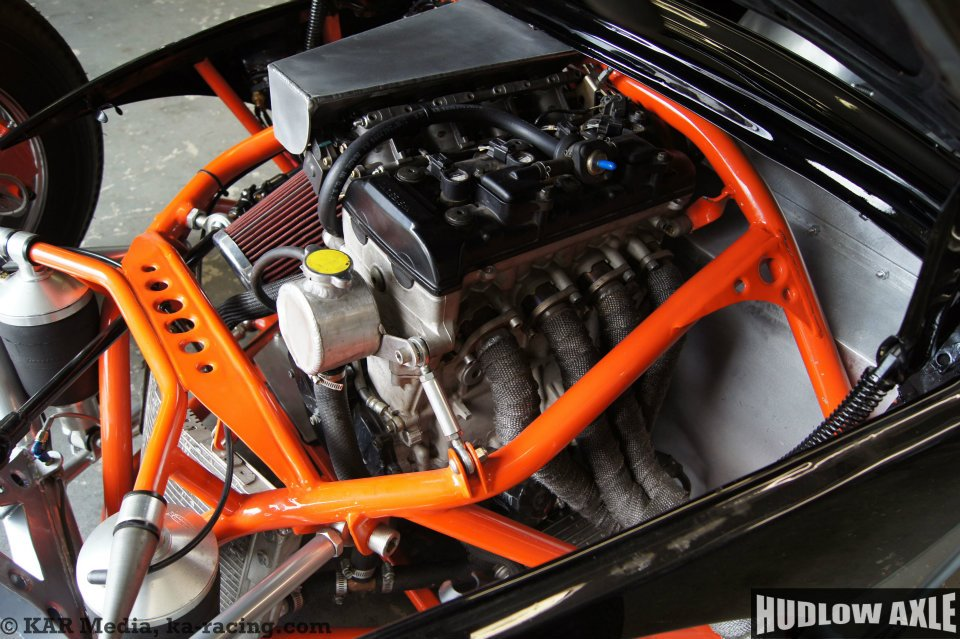 Vw Beetle With A Gsx R1000 Motorcycle Inline Four Engine