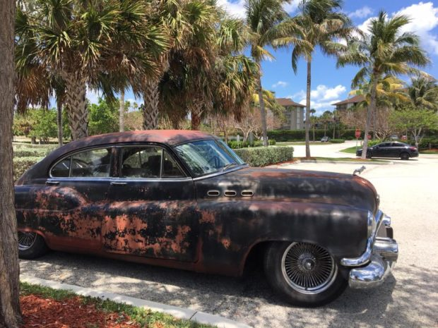1950 Buick with a turbo 6BT diesel inline-six