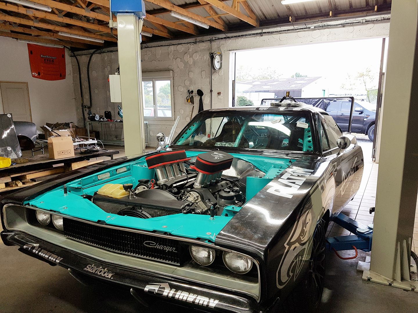 1968 Charger With A Bmw V8 Engine Swap Depot