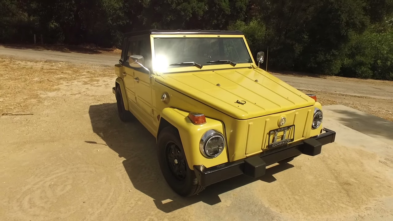 Jonathan Ward Took Icon S Newest Creation And Their First Electric Conversion Out For A Test Drive The 1973 Volkswagen Thing Retains Factory Paint But