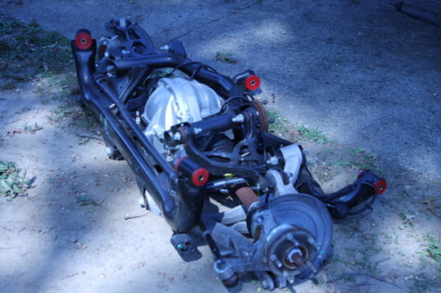 rear end and rear suspension from a 2004 Mustang Cobra