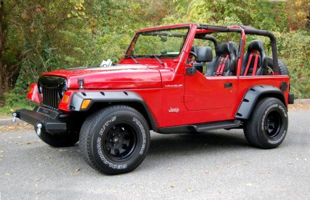 1997 Jeep Wrangler with a twin-trubo 2JZ