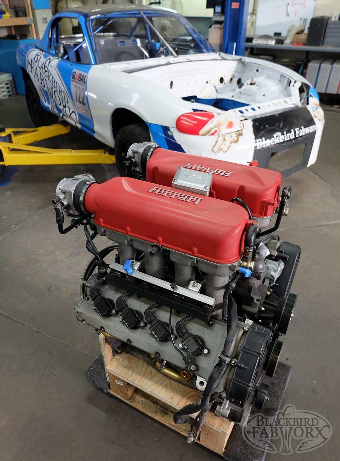 Building a Miata with a Ferrari V8 – Engine Swap Depot