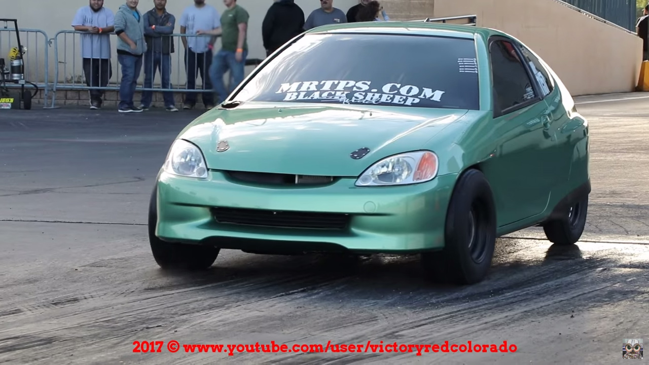 This 2000 Honda Insight Was Built By Marc Rozzo Of Black Sheep Squad The Factory 1 0 L Inline Three And Hybrid Components Were Replaced With A Naturally