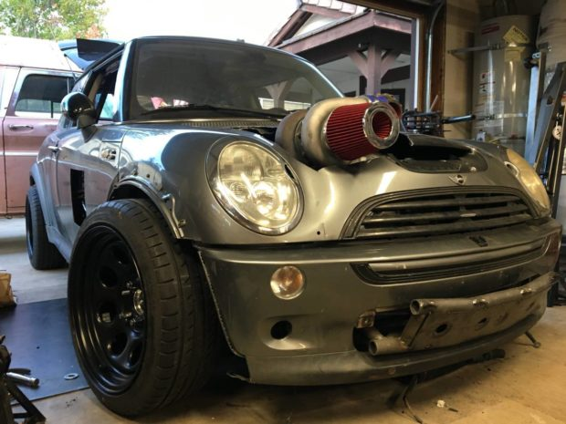 for sale 2004 mini cooper s with a turbo chevy v8. Black Bedroom Furniture Sets. Home Design Ideas
