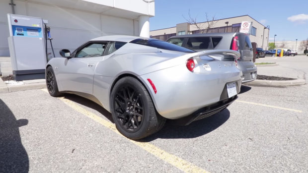 2014 Lotus Evora with a Tesla Model S electric motor