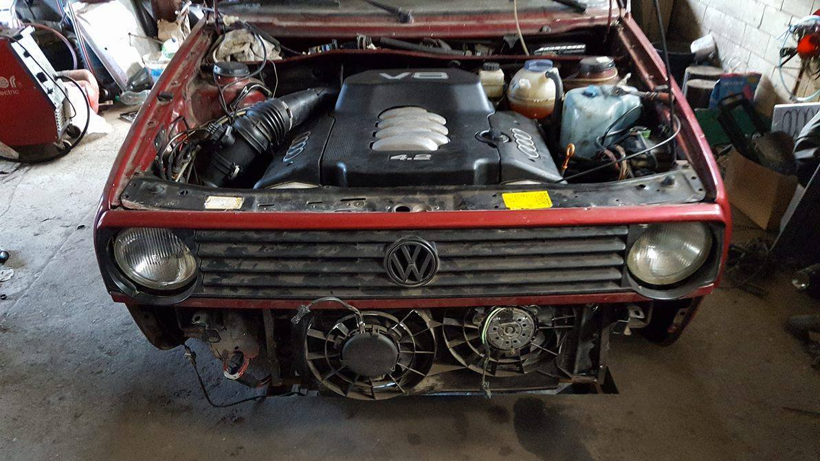 AWD Golf with an Audi V8 – Engine Swap Depot