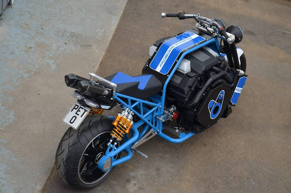 Custom Motorcycle With A Twin Turbo Bmw V8 Update 2