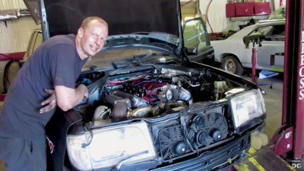 Deboss Garage 1994 Mercedes W124 E320 with a turbo LM7 V8