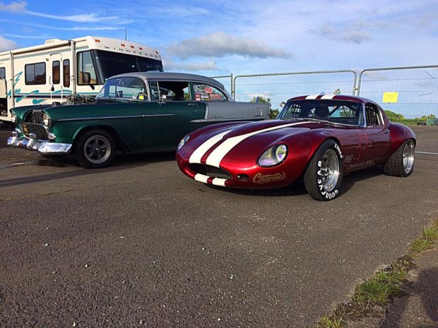 Jaguar E-Type with a 1JZ inline-six