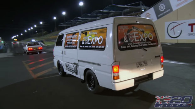 Mazda E2000 van with a turbo 3800 V6