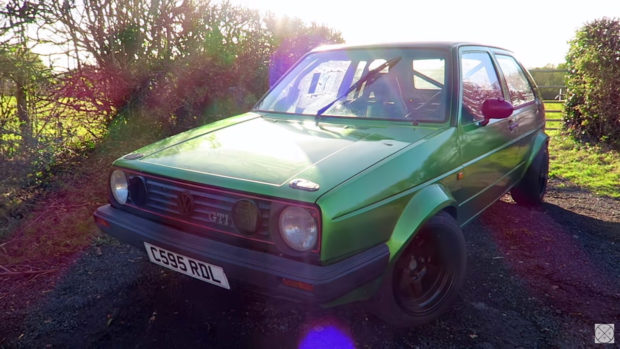 RWD Golf Mk2 with a turbo 1.6 L inline-four