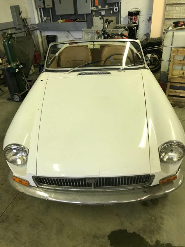1963 MGB with an air-cooled flat-four