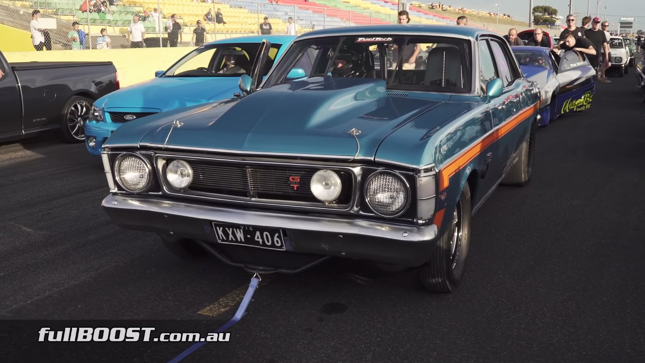 Steve bezzina has turned his 1970 ford falcon xw into a drag racing monster capable of a 7 08 sec quarter mile at 203 58 mph helping the 3750 lb car reach