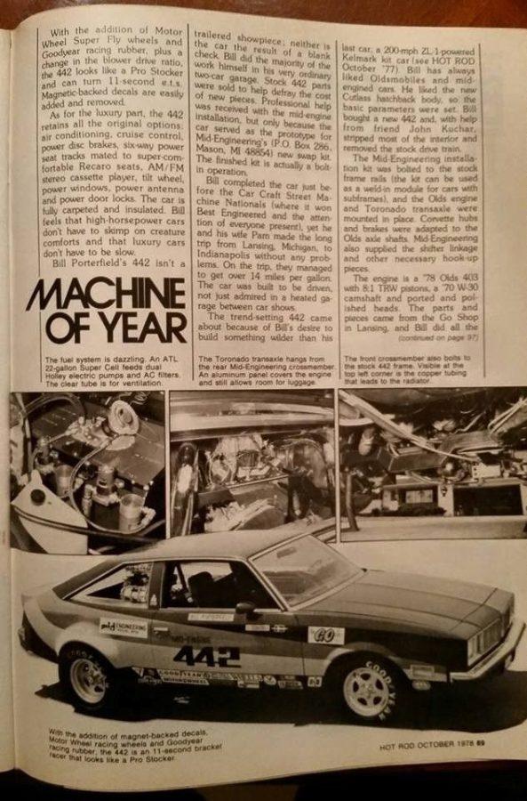 1978 Oldsmobile 442 with Mid-Engine V8