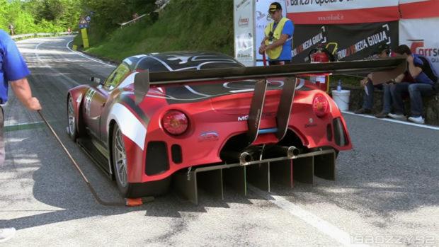 Alfa Romeo 4C with a Zytek V8