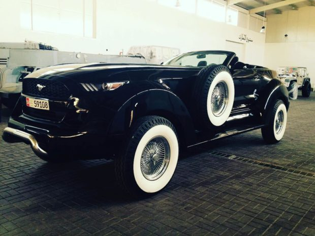 Custom Ford Mustang on Dodge Ram 4x4 Chassis