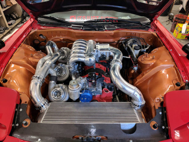 Mazda RX-7 with triple-turbo 20B rotary