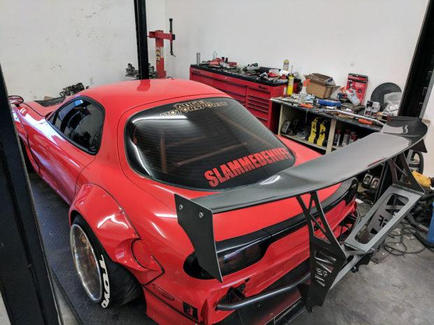 Mazda RX-7 with triple-turbo 20B rotary