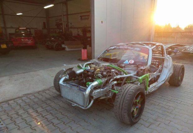 Opel GT with a Turbo 2JZ inline-six