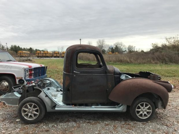 1946 Chevy Truck with a Prius 1.5 L inline-four and CVT transmission