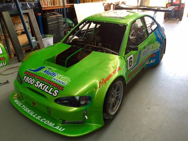 Hyundai Excel with a Supercar Ford V8