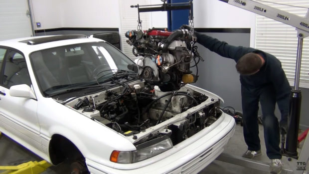 Tom's Turbo Garage 1991 Galant with a 4G63 swap