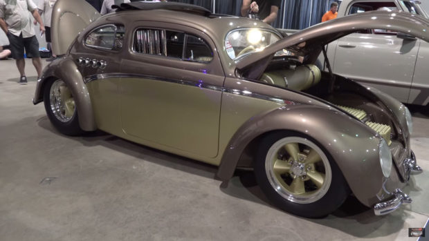 VW Beetle with a Mid-Engine Buick V8