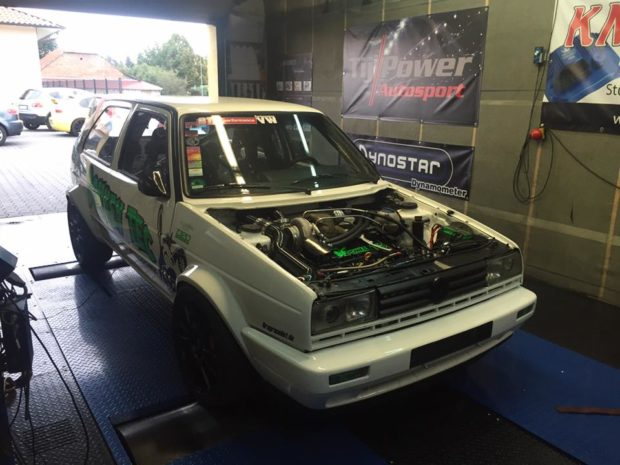 VW Golf Mk2 with a Turbo VR6