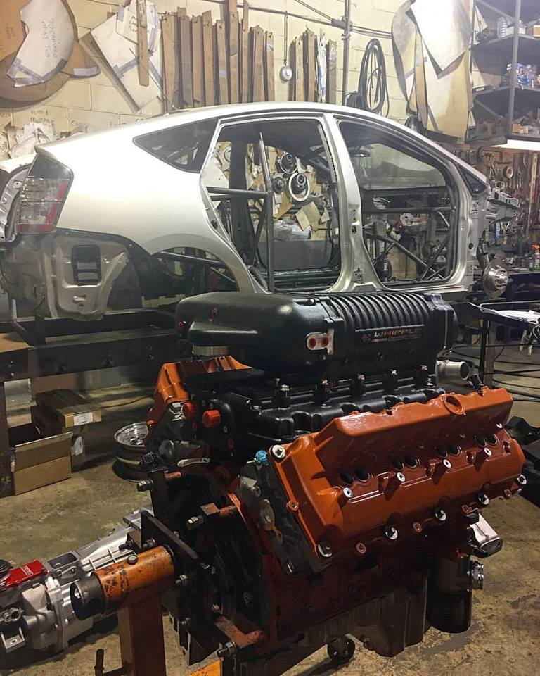 Custom Toyota Prius With A Hellcat V on Toyota Camry 2 Engine Modifications