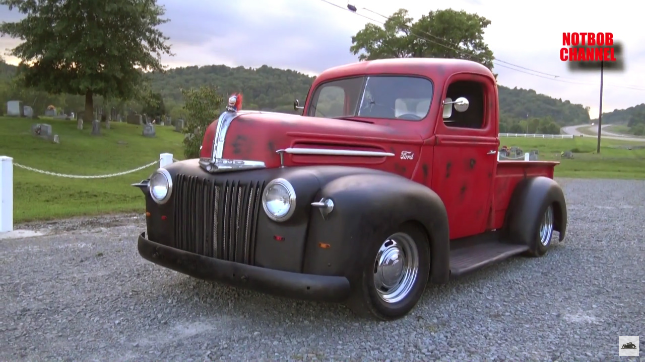 1946 Ford Truck on S10 chassis and Chevy V6 01 1946 ford truck with a chevy v6 engine swap depot