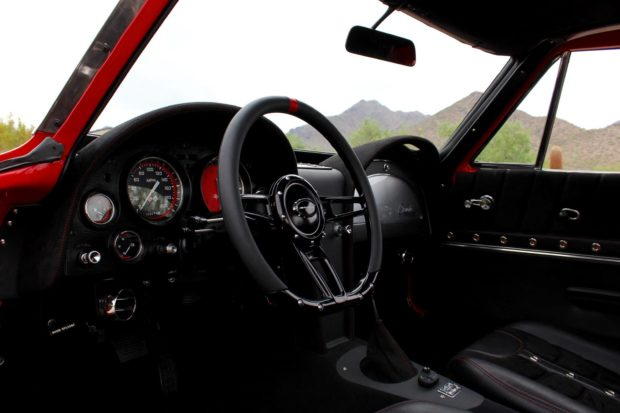 interior of a 1963 Corvette with a Supercharged LT1 V8