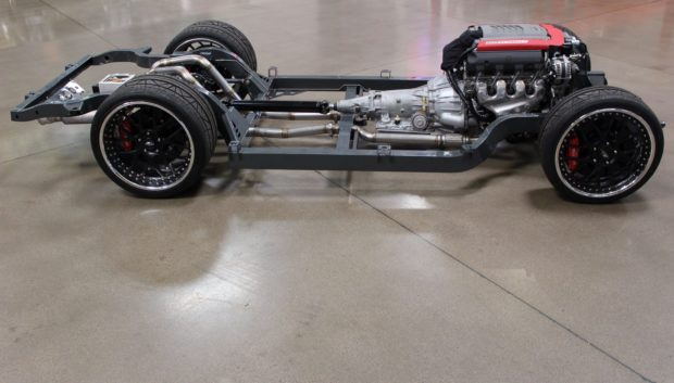 Roadster Shop Fast Track chassis with a supercharged LT1 V8 for a 1963 Corvette