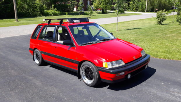 1990 Honda Civic RT4WD with a D-series inline-four