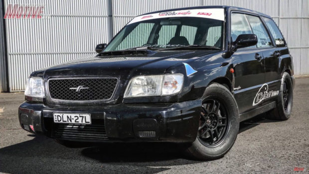 2000 Subaru Forester with a turbo 2.3 L EJ-series flat-four