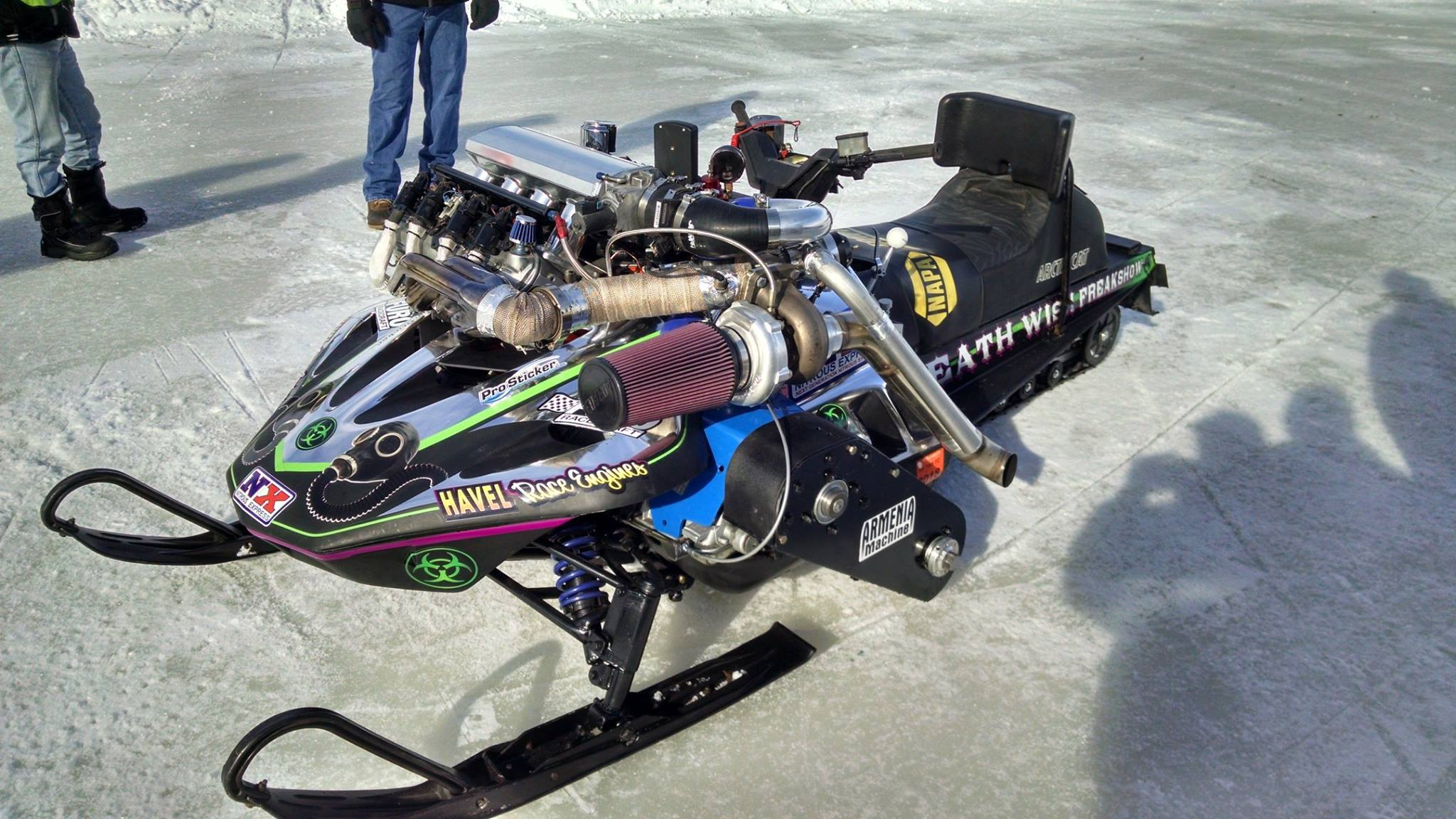 Arctic Cat Snowmobile With A Turbo Lsx V