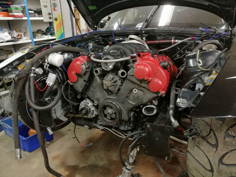 Bmw Z4 With A Twin Turbo Porsche V8 Engine Swap Depot