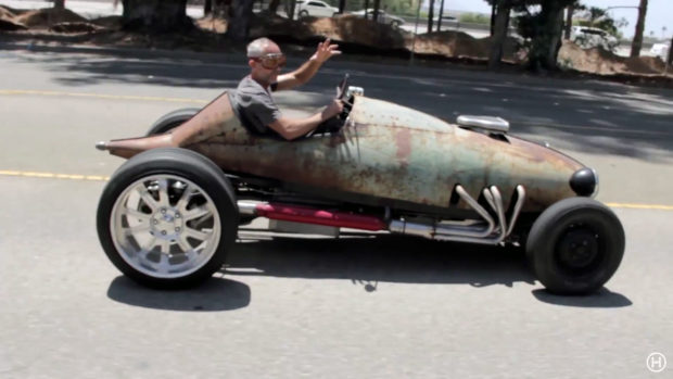 Belly Tank hot rod with a Chevy 350 V8