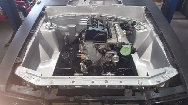 Foxbody Mustang with a Turbo K20/K24 inline-four
