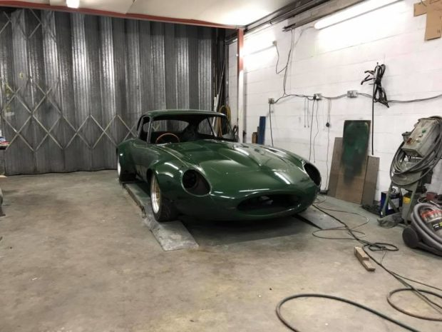 Jaguar E-Type with a Mazda 20B three-rotor