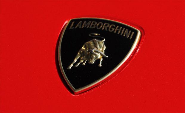 Lamborghini Badge Logo red
