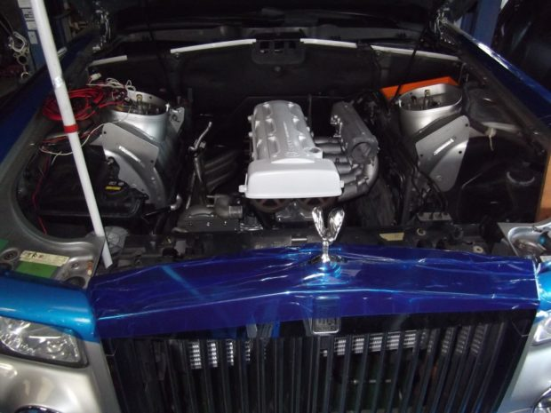 Rolls-Royce Phantom with a turbo and supercharged 2JZ inline-six