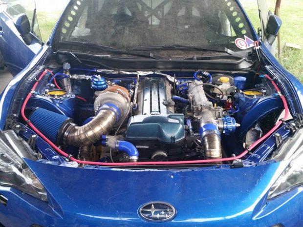 Subaru BRZ with a turbo 2JZ inline-six