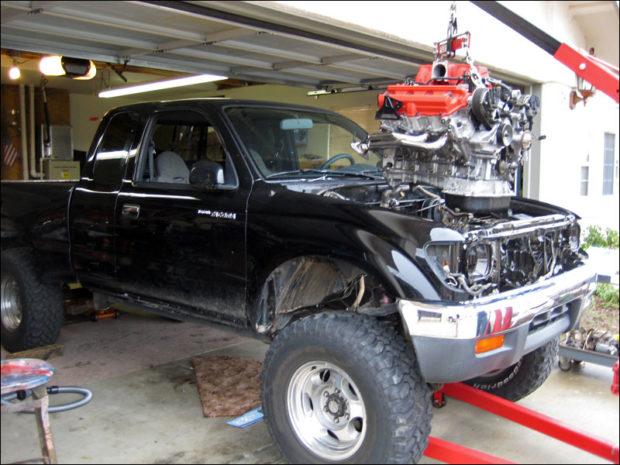 Toyota Tacoma with a 1UZ V8 – Engine Swap Depot
