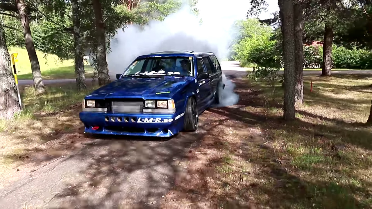 Volvo 740 wagon with a turbo B230 inline-four