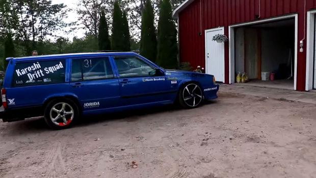 Volvo 740 wagon with a turbo B230 inline-four